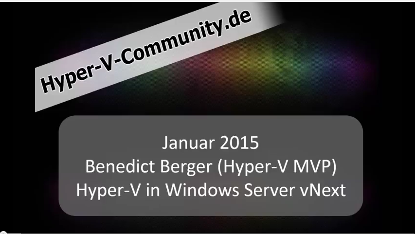 Hyper-V in Windows Server vNext