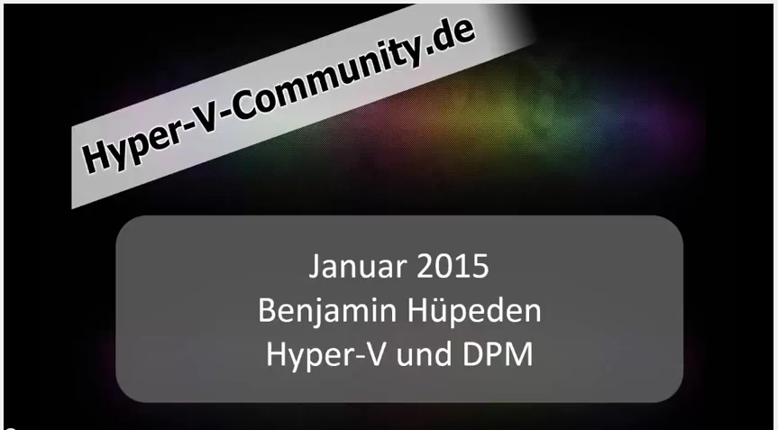 Hyper-V und DPM